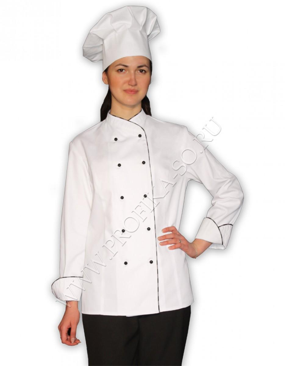 Поварская спецодежда куртка повара женская Танго