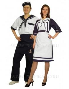 Униформа на заказ Форма для официантов в морском стиле