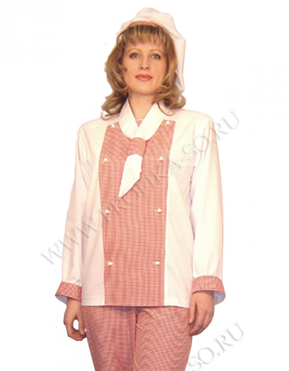Поварская спецодежда куртка женская для поваров Люкс