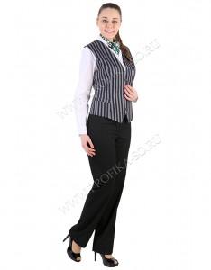"""Костюм с жилетом """"Полина-2"""" для персонала отеля и ресторана"""